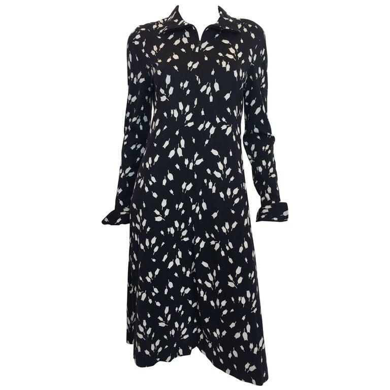 Diane Von Furstenberg Black and White Tulip Dress, 1970s