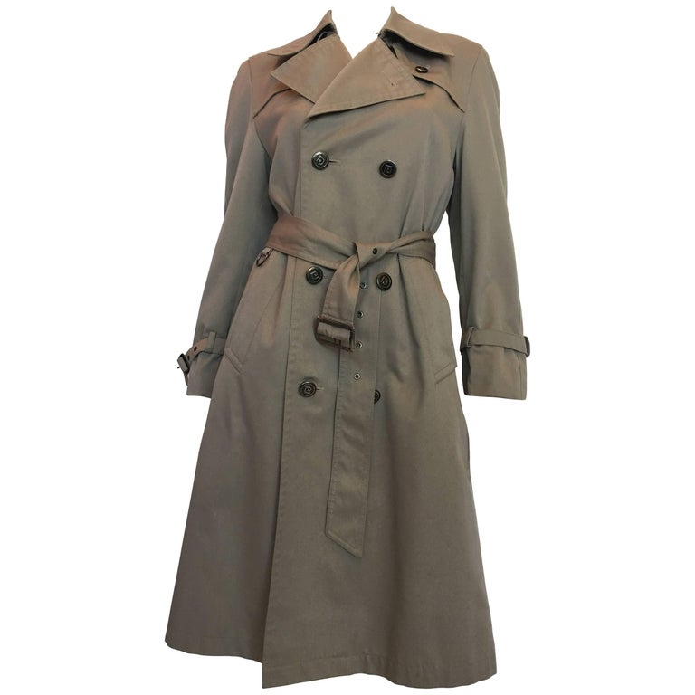 1970s Pierre Cardin Grey Trenchcoat