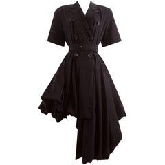 John Galliano Spring-Summer 1988 'Blanche Dubois' asymmetric draped coat dress