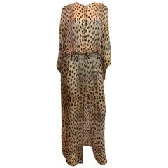 Roberto Cavalli Silk Leopard Print Dress