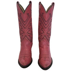 Tony Lama Vintage Pink Cowboy Boots