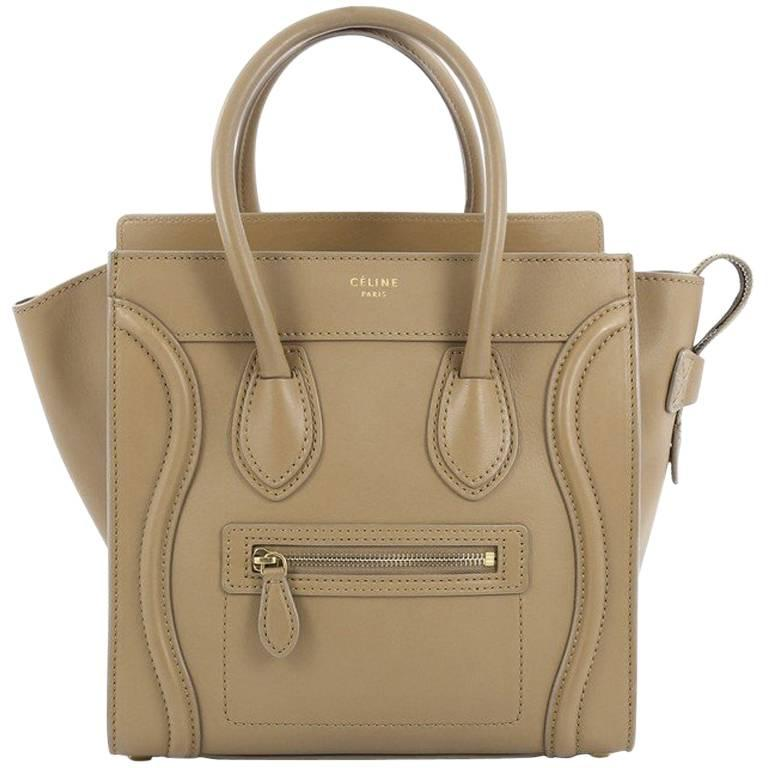 1stdibs Celine Luggage Handbag Grainy Leather Micro bvxA9