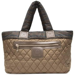 Chanel Khaki Coco Cocoon Tote Bag