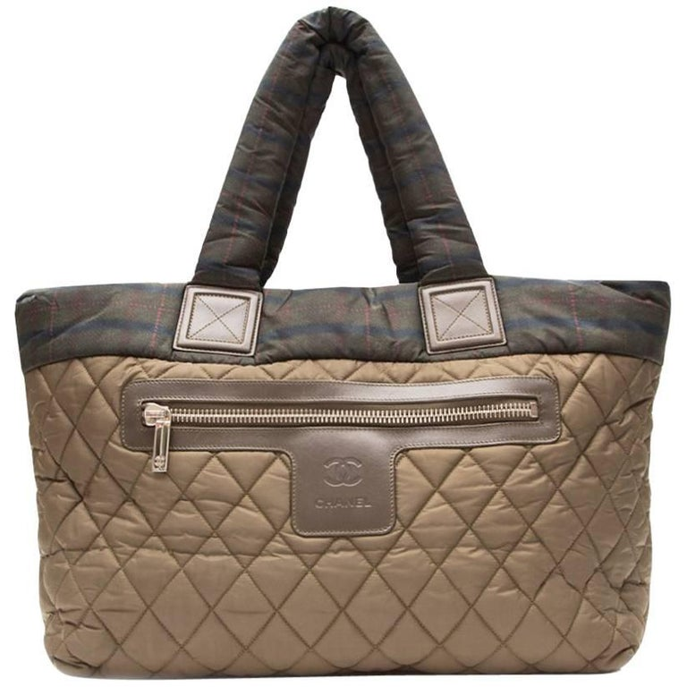 Chanel Khaki Coco Cocoon Tote Bag  For Sale