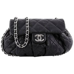 Chanel Chain Around Flap Bag Quilted Leather Medium
