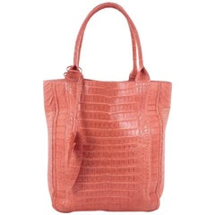 Nancy Gonzalez Feather Tote Crocodile Tall