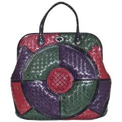 Bottega Veneta Tri-Color Woven Leather Limited Edition Intrecciato Frame Bag