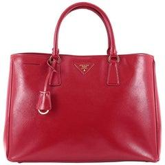 Prada Lux Open Tote Vernice Saffiano Leather Large