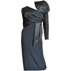1980s Bill Blass Dress With Large Bow