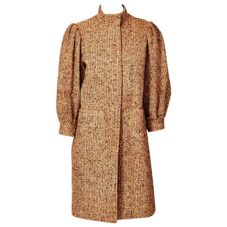Galanos Tweed Coat For Sale