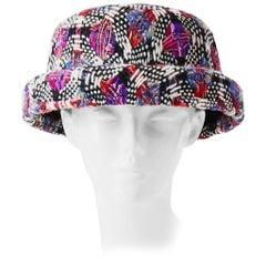 Chanel Linton Tweed Bowler Hat