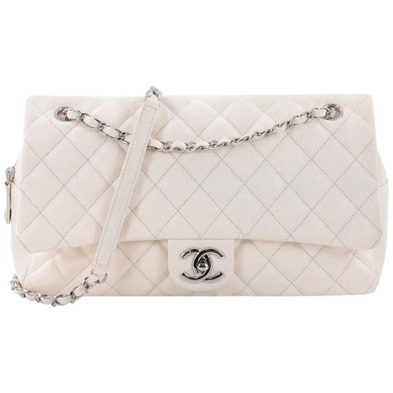 0a5c51f6c1bd Chanel Easy Flap Bag Quilted Caviar Jumbo at 1stdibs
