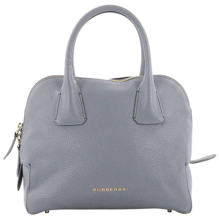 Burberry Greenwood Bowling Bag Grainy Leather Small For Sale