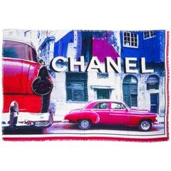 Chanel Silk Fringe Oversize Shawl Scarf