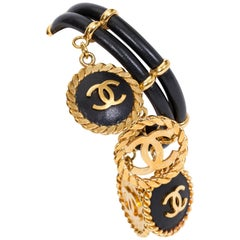 Chanel Rare Leather & Coin Bracelet