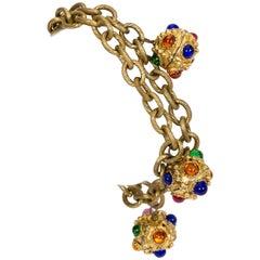 Chanel Rare 70s Gripoiox Charm Bracelet