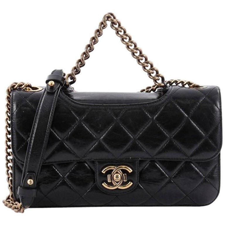 a95d647f657be5 Chanel Perfect Edge Flap Bag Quilted Glazed Calfskin Small at 1stdibs