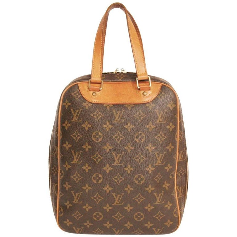 LOUIS VUITTON 'Excursion' Bag in Brown Monogram Canvas and Leather