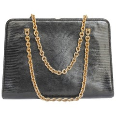 Vintage GUCCI Bag in Black Lizard