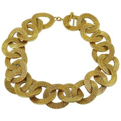 Balenciaga Vintage Gold Toned Link Necklace