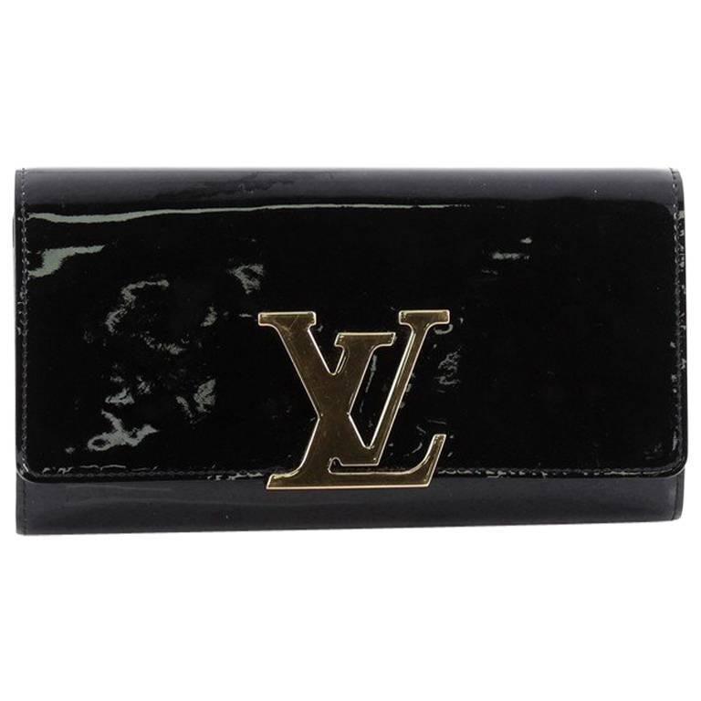 Louis Vuitton Louise Wallet Patent Long at 1stdibs