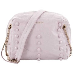 Lanvin Sugar Crossbody Bag Studded Quilted Leather Mini