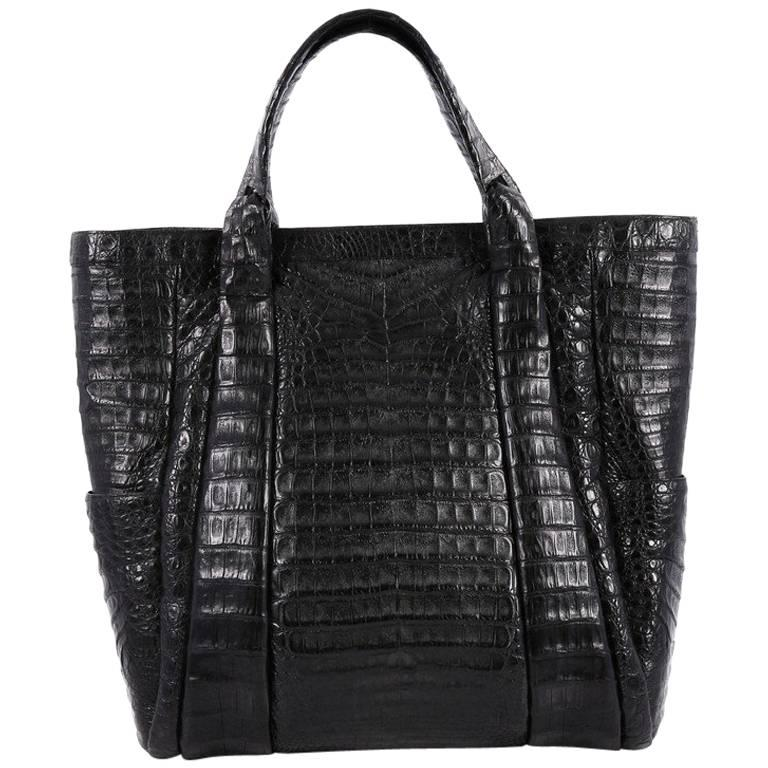 Nancy Gonzalez Tote Crocodile Large 1