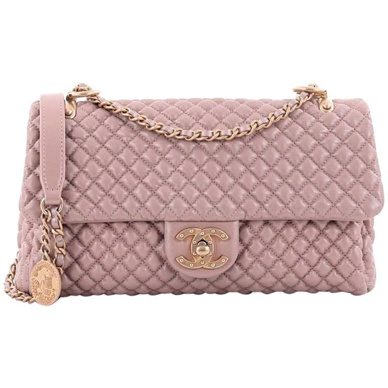 9bbc5bcc0284c9 Chanel Medallion Charm CC Flap Bag Micro Quilted Calfskin Medium For Sale