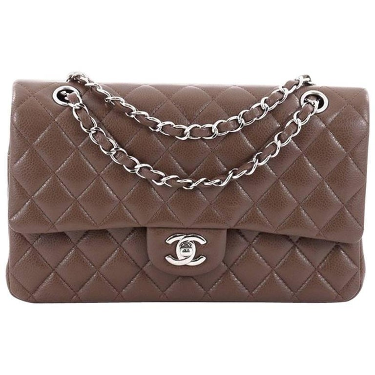 5a16da5d68a54 Chanel Classic Double Flap Bag Quilted Caviar Medium For Sale at 1stdibs