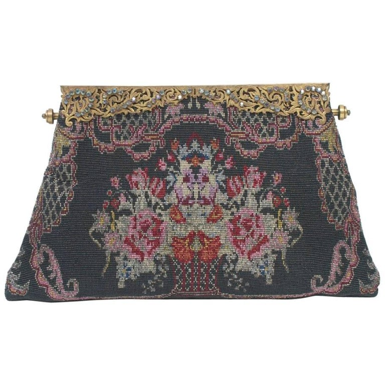 Floral Microbeaded Evening Bag