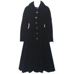 1950s Black Velvet Coat