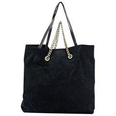 Black Lanvin Suede Carry Me Tote Bag