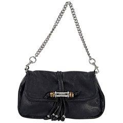 Black Gucci Leather Marrakech Shoulder Bag