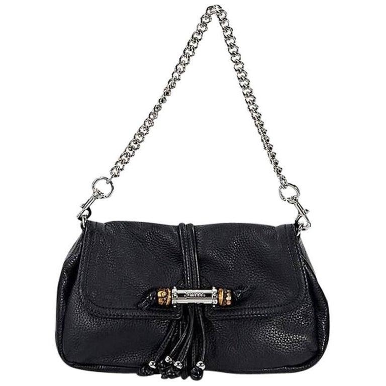 Black Gucci Leather Marrakech Shoulder Bag For Sale