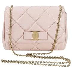 Pink Salvatore Ferragamo Quilted Vera Bag