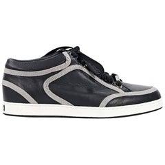 Black Jimmy Choo Leather Sneakers