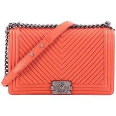Chanel Boy Flap Bag Chevron Calfskin New Medium