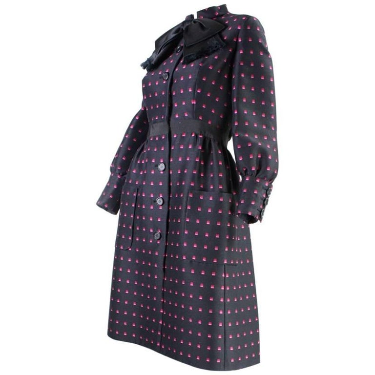 1960's Chester Weinberg Dress with Geometric Print 1