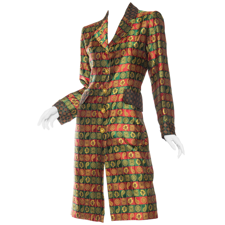 1980S YVES SAINT LAURENT Indian Silk Brocade Coat