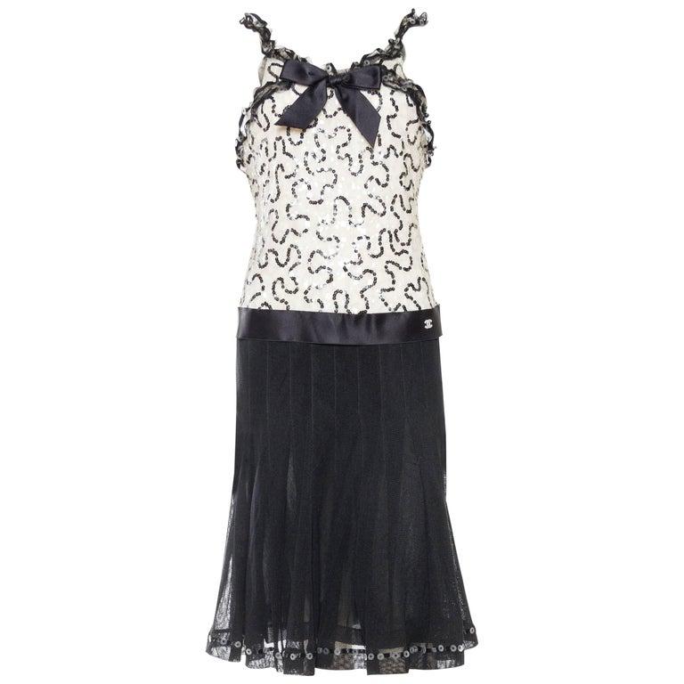 Quintessential Black & White Chanel Dress