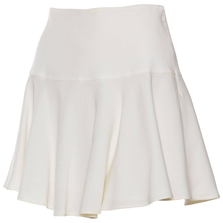 Dolce & Gabbana Flirty White Mini Skirt