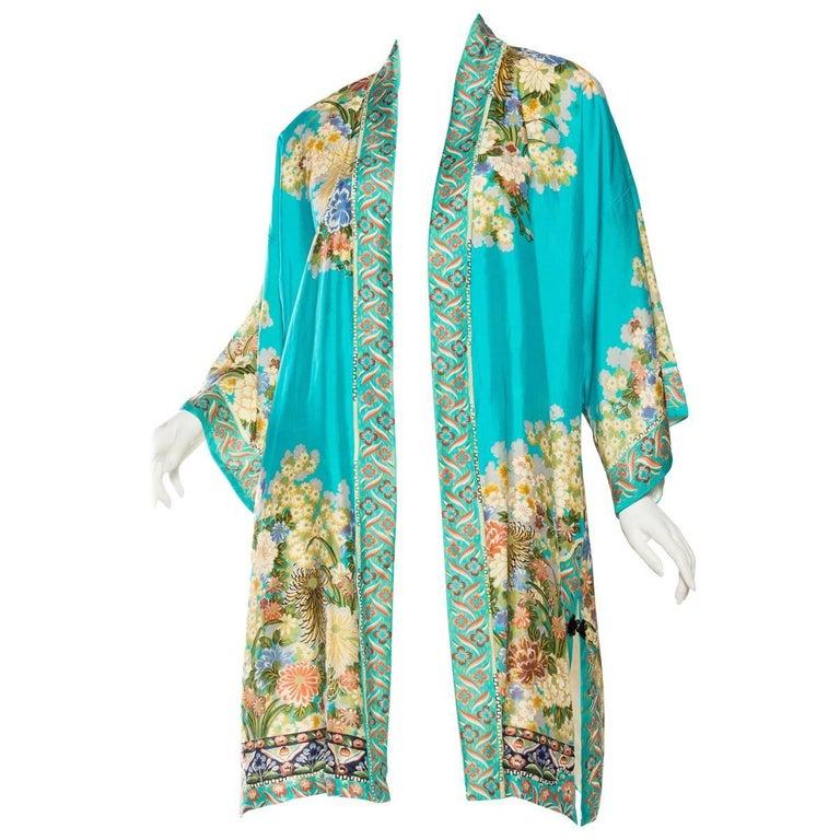 Lightweight Japanese Silk Floral Kimono