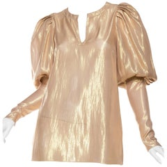 Thierry Mugler Gold Lamé Blouse