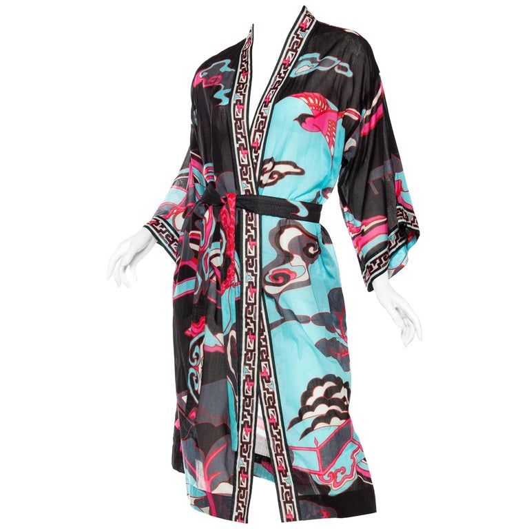 Leonard Asian printed Cotton Kimono