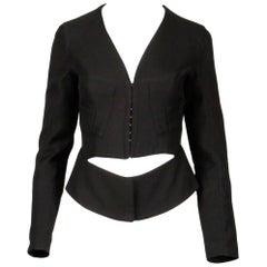 Alessandro Dell'acqua Black Avant Garde Blazer Jacket