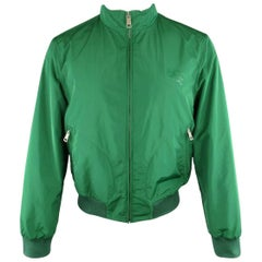 Men's BURBERRY BRIT M Green Windbreaker Bomber Jacket