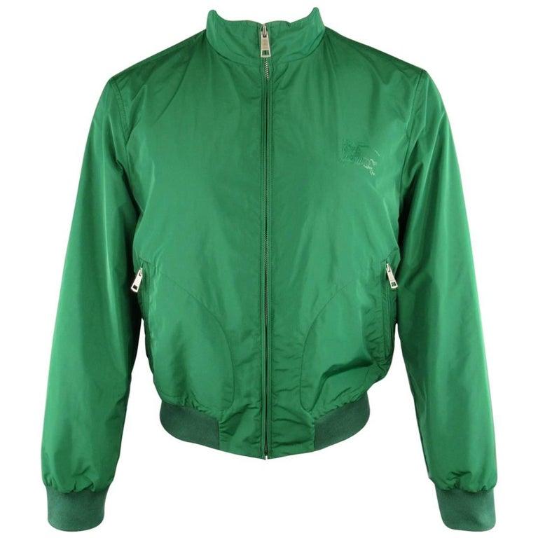 Men's BURBERRY BRIT M Green Windbreaker Bomber Jacket