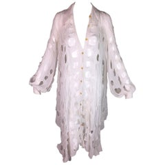 RARE S/S 1991 Vivienne Westwood Cut Slash Pull Met V&A Museum White Dress Shirt