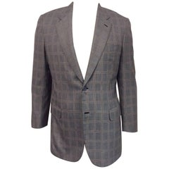 Men's Brioni Made for Maus & Hoffman Palentino Wool and Silk Jacket Sz 42L