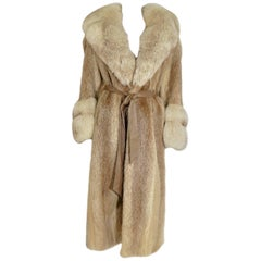 Vintage Mink And Fox Fur Coat